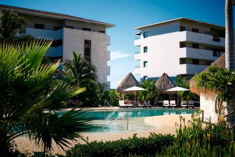 Poolside at Secrets Resort in Puerto Vallarta, Mexico.