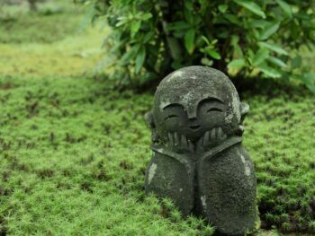 Spiritual statue at temple in Kyoto, Japan.