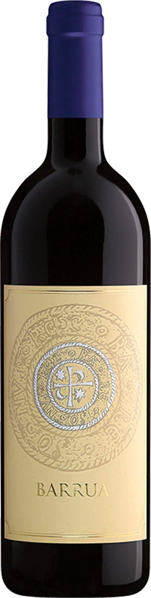 The Agricola Punica Barrua wine bottle.