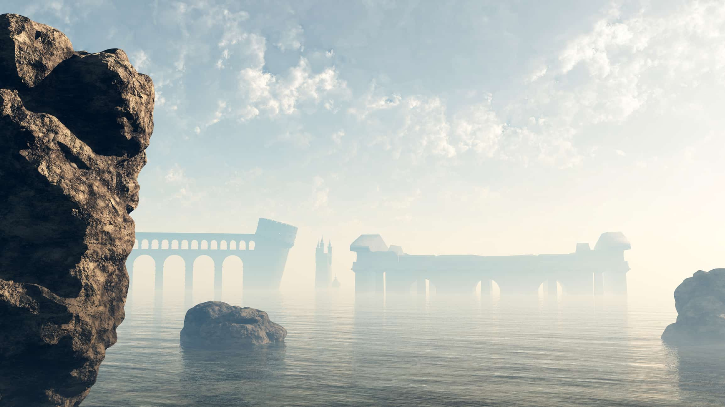 This illustration depicts the remains of Atlantis. Photo by Algol/Dreamstime.com