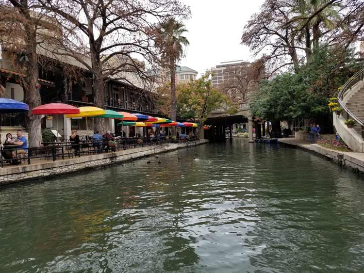 The River Walk during the day.