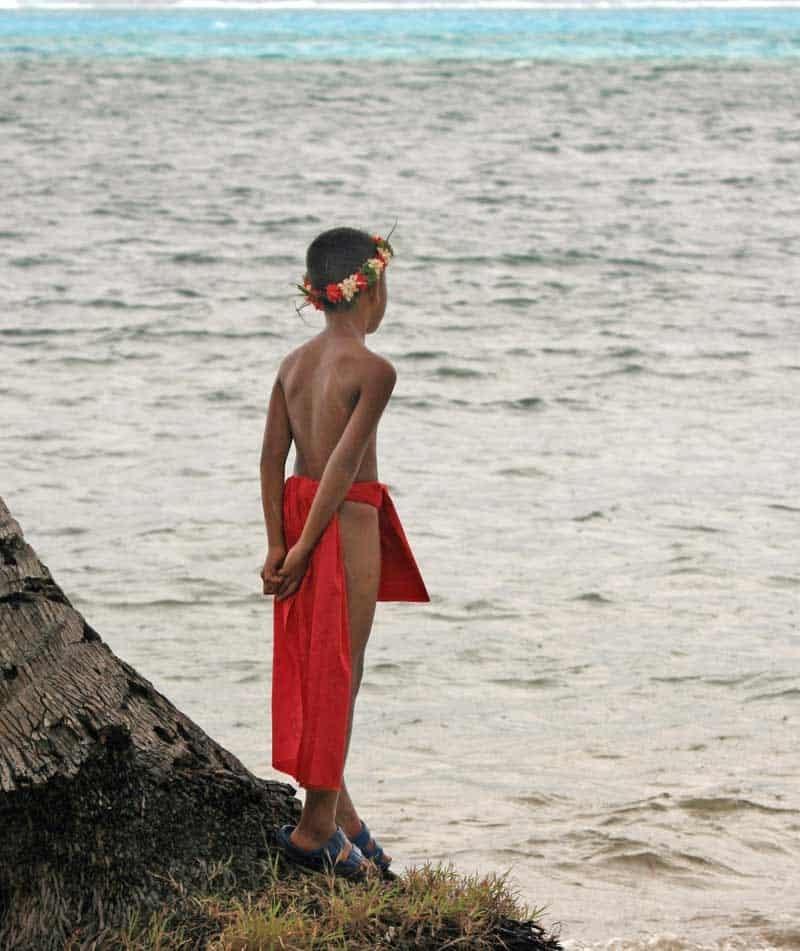 Waiting for the sailors to come home on the island of Yap.