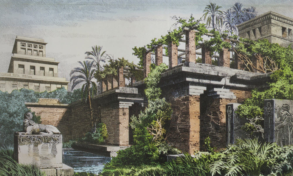 An engraving of the spectacular Hanging Gardens of Babylon, which I will never see. Photo by Garcia Juan/Dreamstime.com
