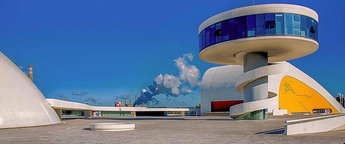 Oscar Niemeyer International Cultural Centre in Avilés, Spain.