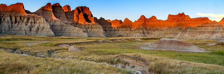 Red rock formations of the Badlands.