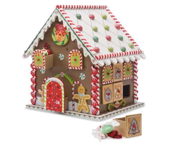 HearthSong Wooden Gingerbread Calendar