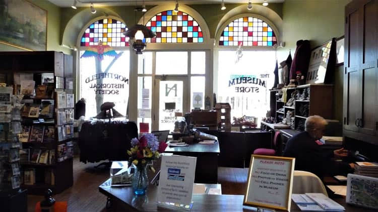 Inside the Northfield Historical Society Museum Store.
