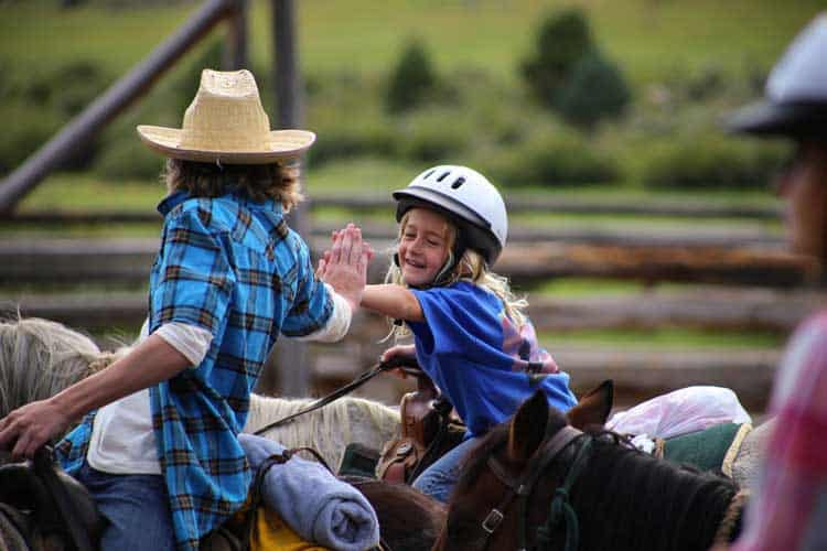 Many dude ranches offer children's programs.
