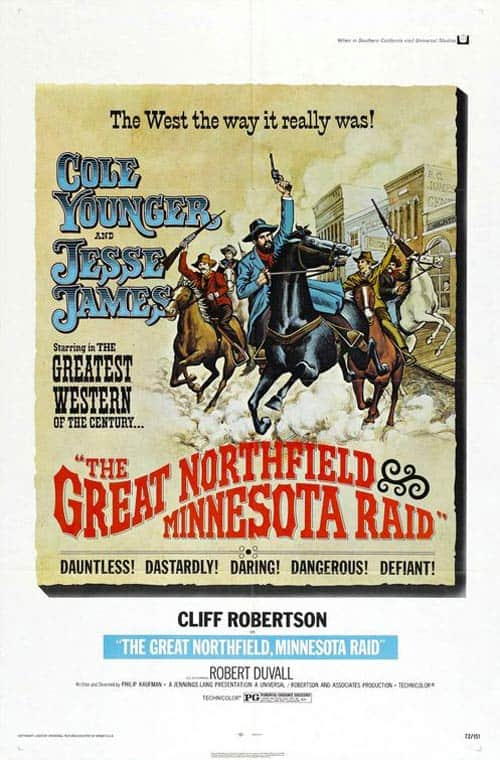 Movie poster for The Great Northfield Minnesota Raid.