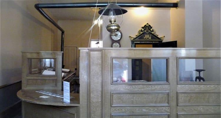 Old bank lobby.