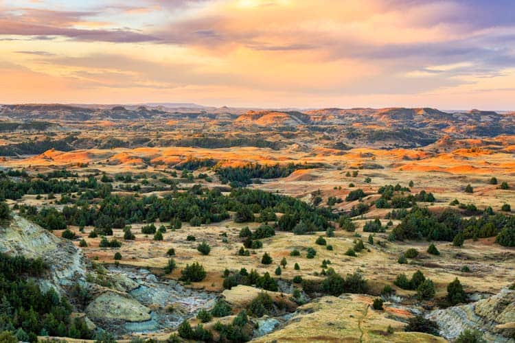 The colorful Theodore Roosevelt National Park.