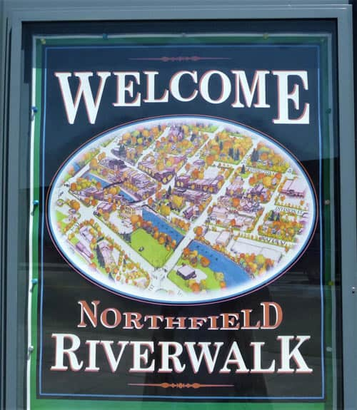 Northfield Riverwalk map.