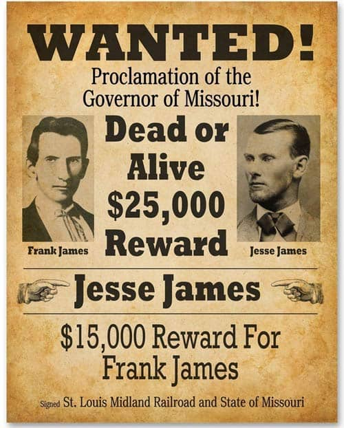 Reward for the James crew capture.