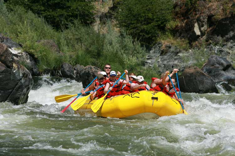 Some dude ranches offer rafting as an experience