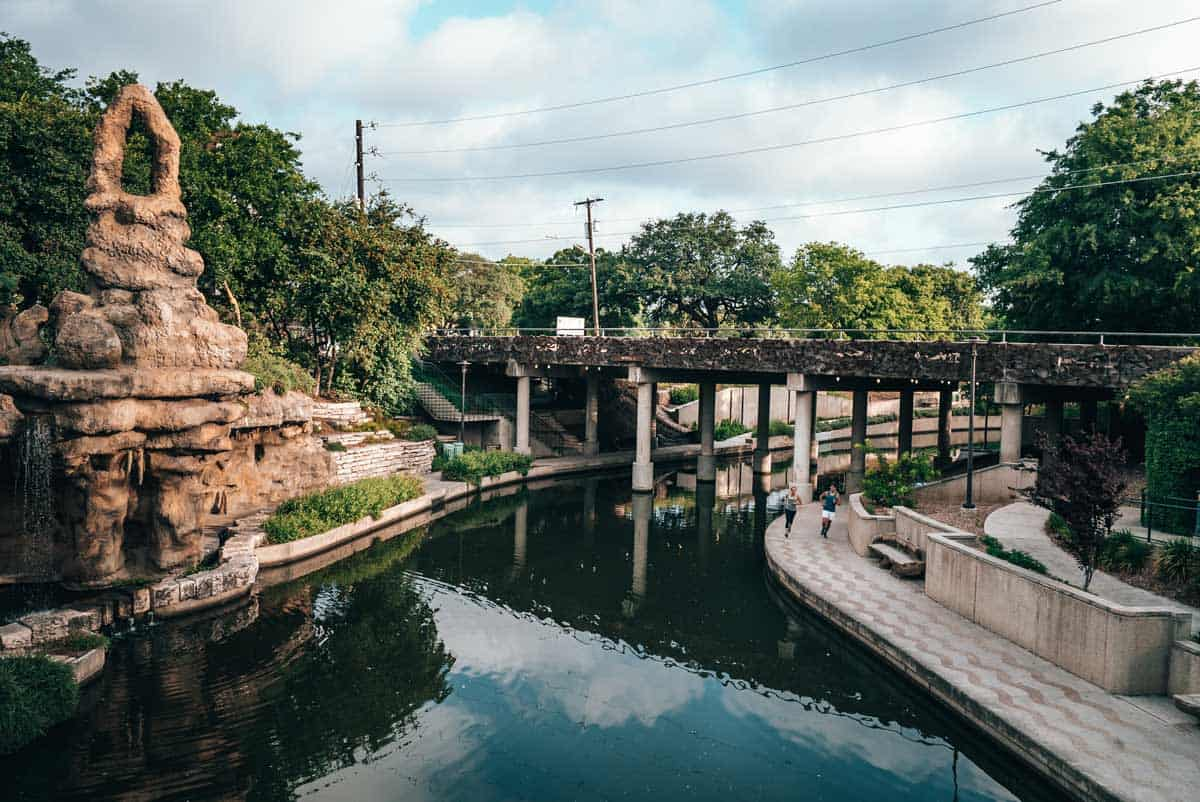 River in San Antonio, Texas.