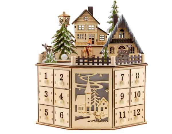 Clever Creations Christmas Village Scene Calendar
