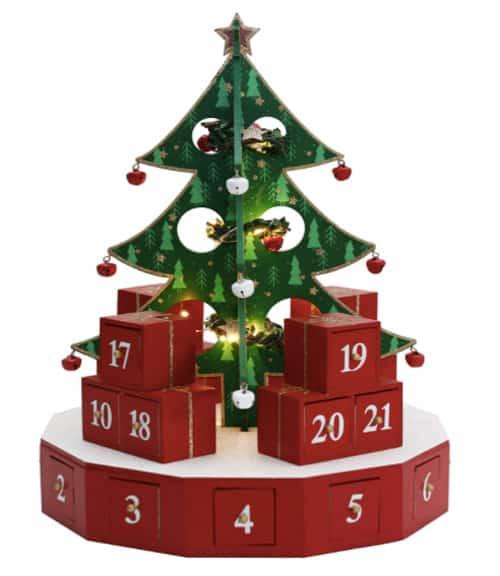 Pioneer-Effort Light-Up Christmas Tree Advent Calendar