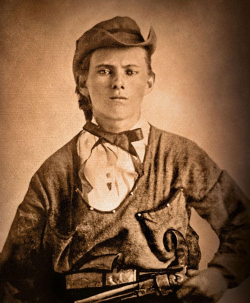 A photograph of a young Jesse James.