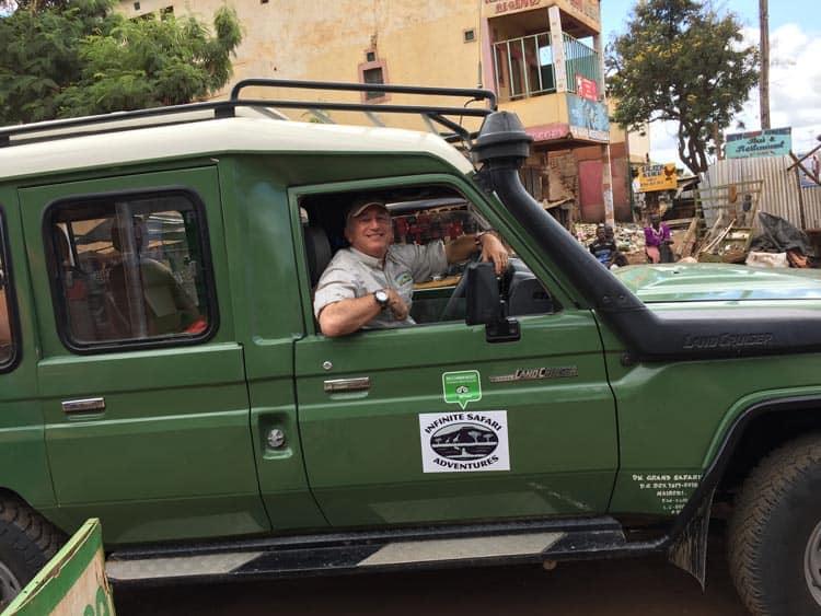 Alan in the Infinite Safari Adventures ride.