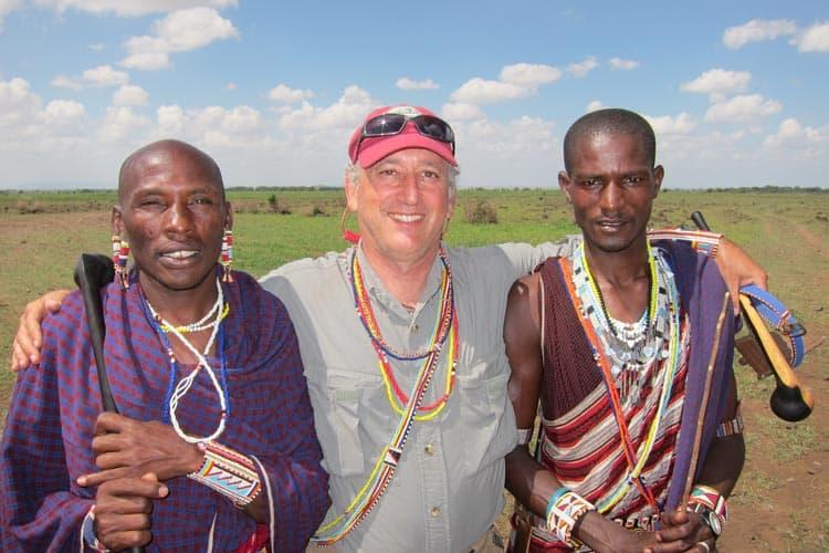 Alan with Maasai.