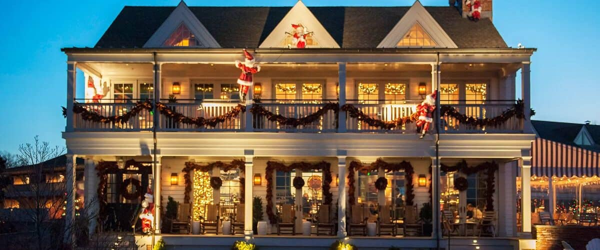 Baron's Cove decorated for holidays in Hamptons