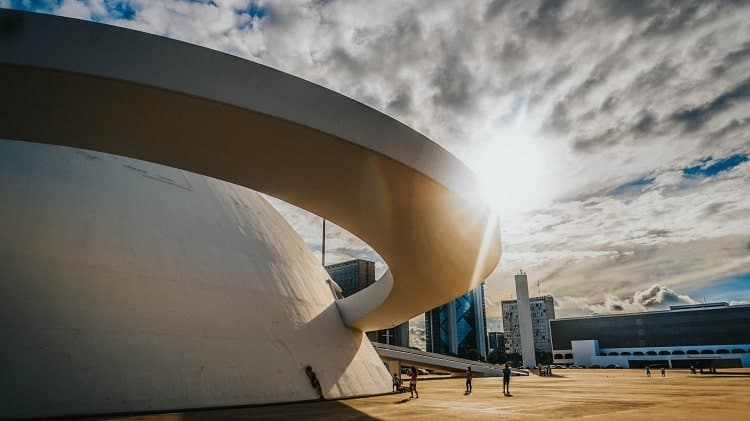 You will see a lot of fascinating buildings in Brasilia.