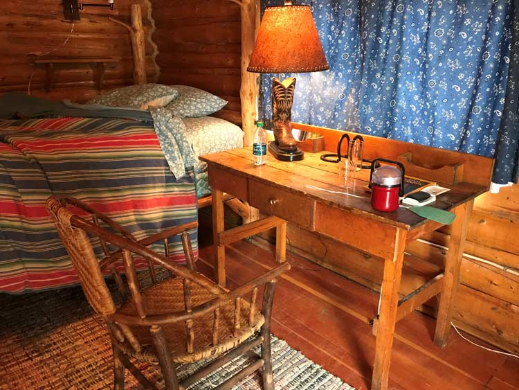 Cabin interior at Spear-O-Wigwam
