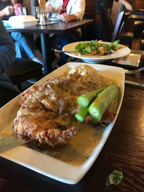 Country fried chicken dish.