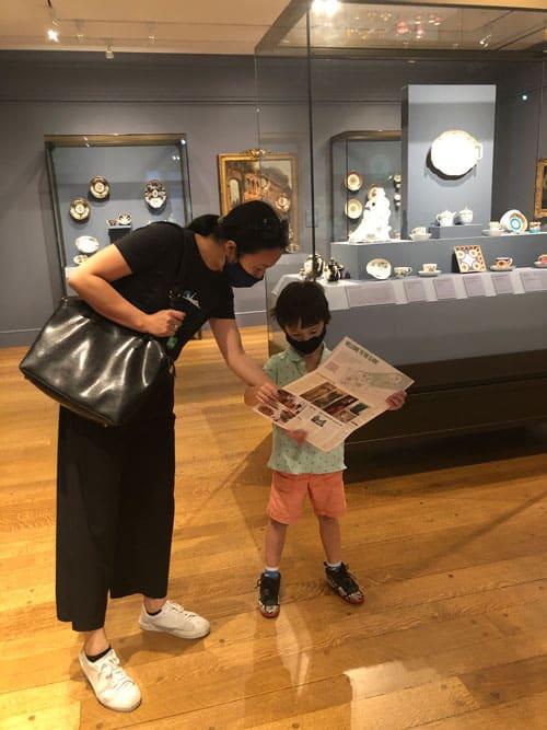 In galleries at Clark museum.