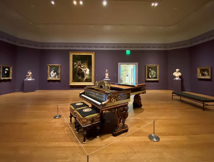 Clark Museum Piano hall.