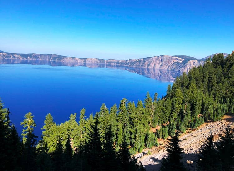 Crater Lake along the Oregon Trail. Photo by Mari S. Gold