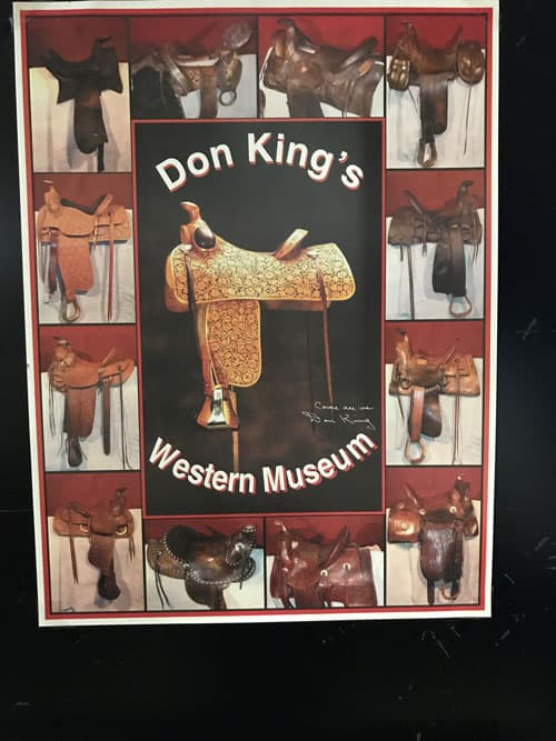 Poster for Don King's Western Museum.