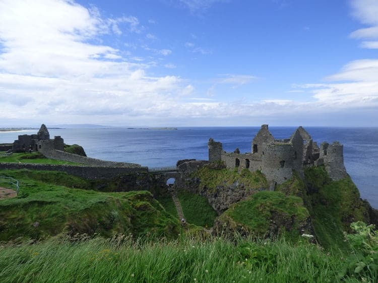 The mesmerizing view of Dunluce Castle near the north coast.