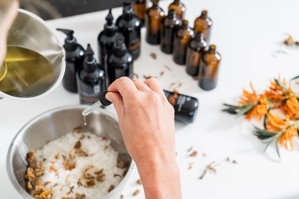 Dr Elliot Ndlovu products in Fordoun Spa. Photo courtesy of Fordoun