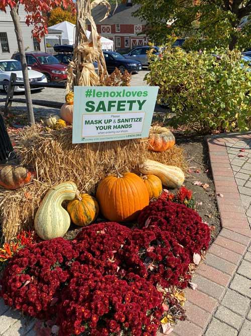 Safety signs around Lenox.
