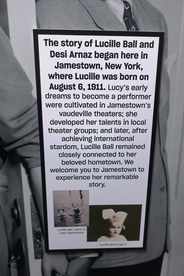 Lucille Ball's origin story is presented in her hometown museum in Chautauqua, New York. Photo by Victor Block