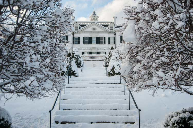 The Mount in the winter.