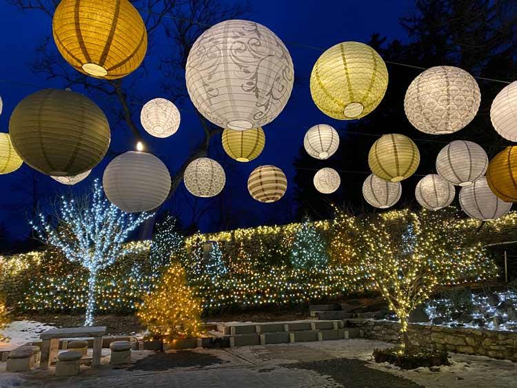 Winter lanterns at Naumkeag.
