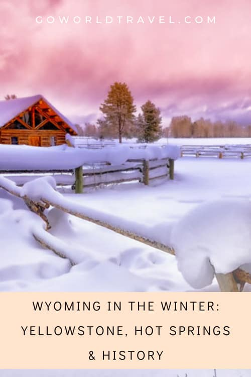 Winter in Wyoming cabin.