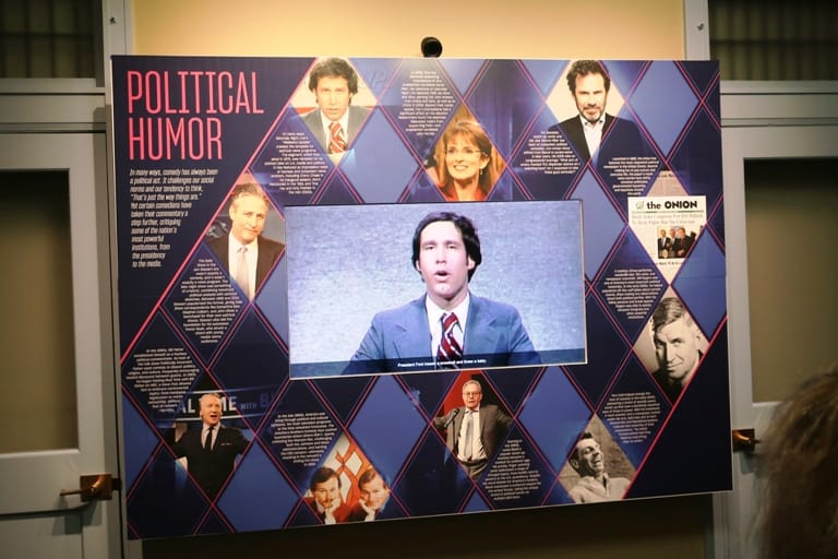 A Political Humor Exhibit at the National Comedy Center in Chautauqua, New York. Photo by Victor Block