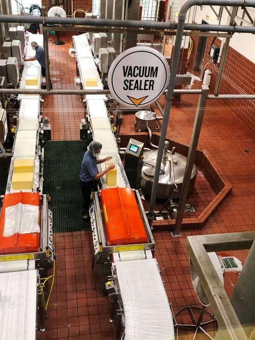 Tillamook Creamery cheese processing. Photo by Mari S. Gold