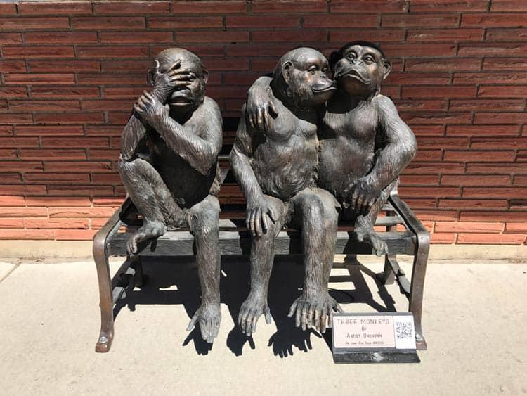 Art sculptures around town of Sheridan.
