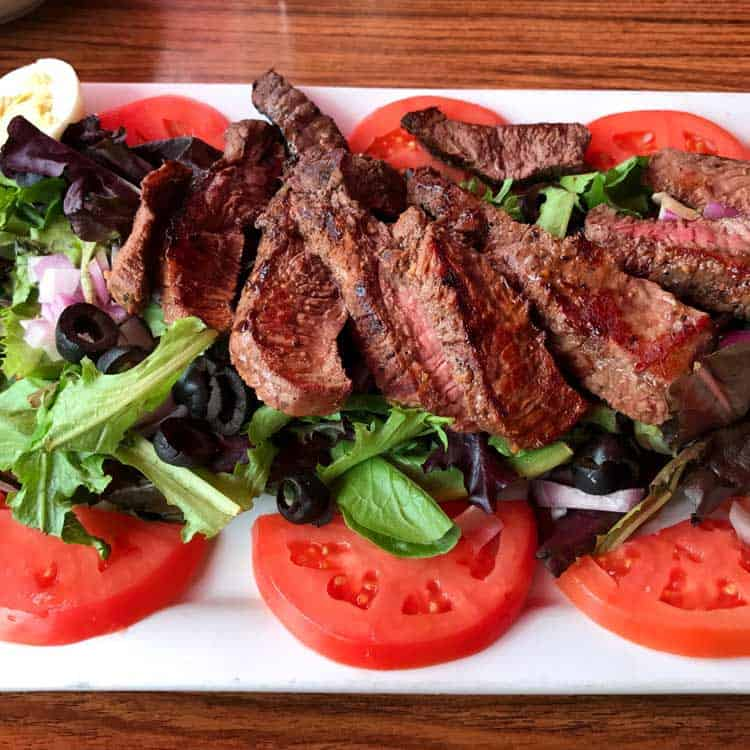 A Sheridan-sized steak and salad.