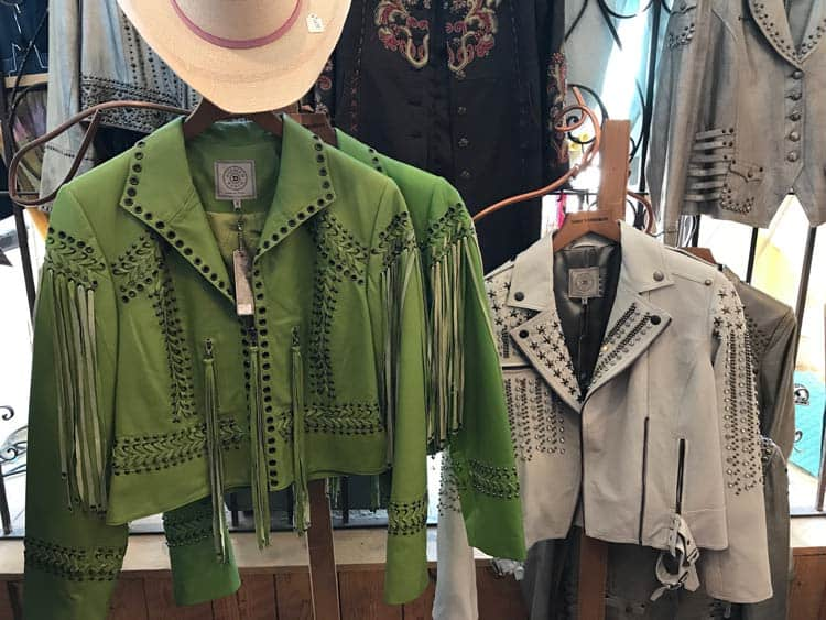 Shopping for cowboy jackets.