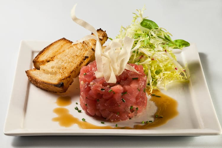 Tuna tartare dish at T Bar in the Hamptons.