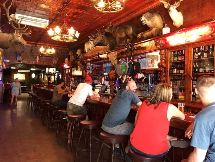 Inside the Mint Bar.