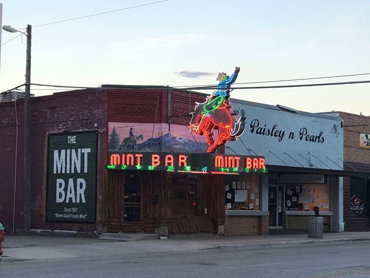The vibrant Mint Bar in Sheridan.