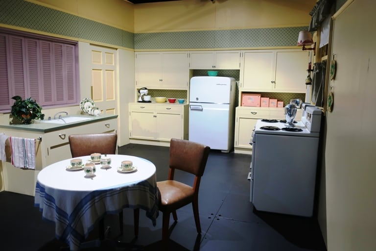 A re-creation of the Ricardo Kitchen brings visitors right into Lucy and Desi's TV home at their museum in Chautauqua, New York. Photo by Victor Block