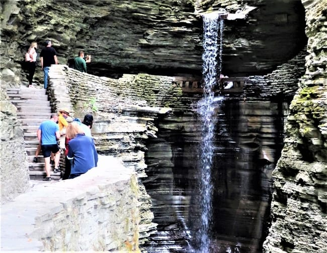 One of 19 Waterfalls at Watkins Glen State Park.  Photo by Victor Block