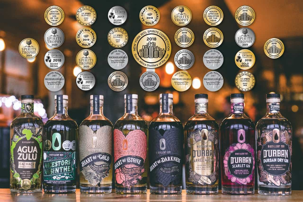 Distillery 031 Spirit Range, with Awards: photo courtesy of Dane Foreman